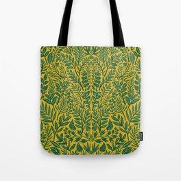 Green Botanical Damask Tote Bag