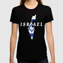Israel Flag Map - Jew Jersualem Pride Gift T-shirt