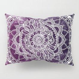 Violet Flower Mandala Pillow Sham