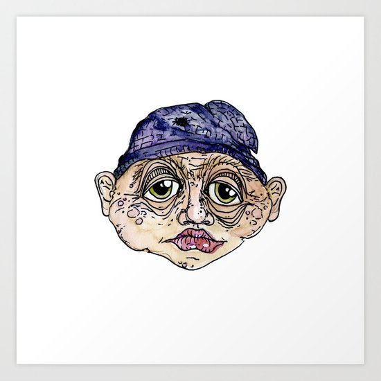 old man 3 Art Print