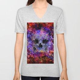 Hippie skull Unisex V-Neck