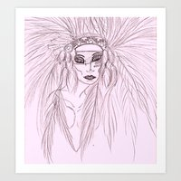 Indian Goddess  Art Print