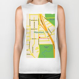 Map of Houston TX #2 Biker Tank