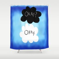 okay Shower Curtains featuring Okay? Okay. by Sierra Christy Art