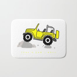 That's how I roll - Yellow Jeep Bath Mat