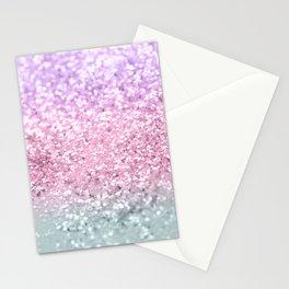 Unicorn Girls Glitter #7a #shiny #pastel #decor #art #society6 Stationery Cards
