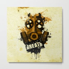 [ breath - grunge version ] Metal Print