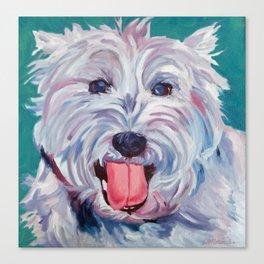 The Westie Kirby Dog Portrait Canvas Print