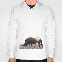 rhino Hoodies featuring Rhino by Yaroslav Greb