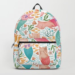 Purrmaids Pattern Backpack