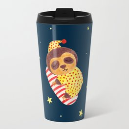 Sleeping Like a Sloth Travel Mug