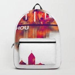 Hangzhou China Skyline Backpack