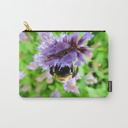 The Bee of Blue Fortune Carry-All Pouch