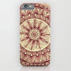 mandala: maroon iPhone 6 Slim Case
