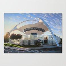 LAX Theme Building - Ground Level Canvas Print