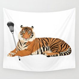 Lacrosse Tiger Wall Tapestry