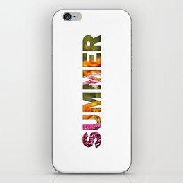 Peecking Season - Summer iPhone Skin