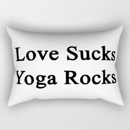 love sucks Rectangular Pillow