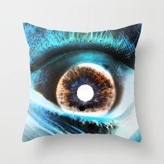 EYE AM  Sci Throw Pillow