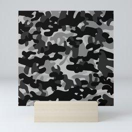 Camouflage (Gray) Mini Art Print