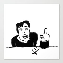 Vodka (drinking alone) Canvas Print