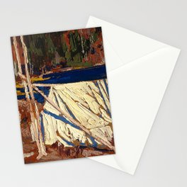 Tom Thomson - The Tent - Canada, Canadian Oil Painting - Group of Seven Stationery Cards