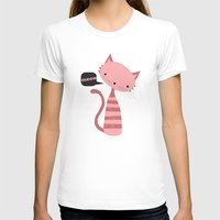 meow T-shirts featuring Meow by Vickn