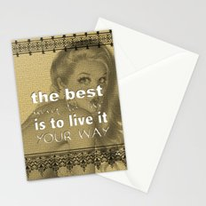 I did it my way Stationery Cards