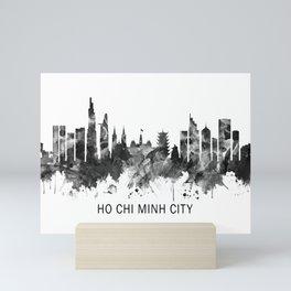 Ho Chi Minh City Vietnam Skyline BW Mini Art Print