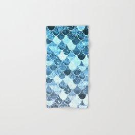REALLY MERMAID SILVER BLUE Hand & Bath Towel