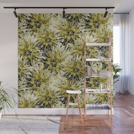 Dahlias in swamp and white Wall Mural