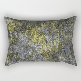 Black and White Ink on Yellow Background Rectangular Pillow