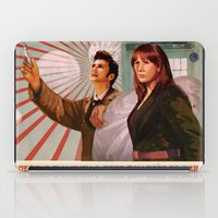 propaganda iPad Cases featuring Doctor Who Propaganda Poster by ghimm