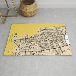 Jeddah Yellow City Map Rug