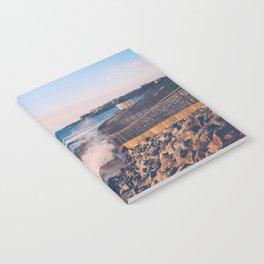 Crashing Waves in Newport Notebook