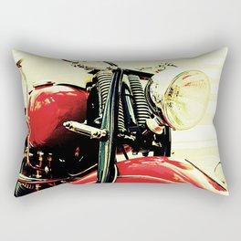 Motorcycle-Red Rectangular Pillow