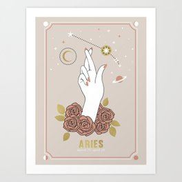 Aries Zodiac Series Art Print