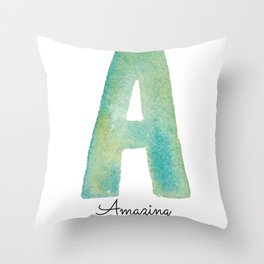 A for Amazing Throw Pillow