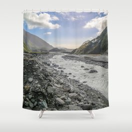 Beyond the Glacier Valley Shower Curtain