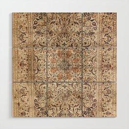 Silk Esfahan Persian Carpet Print Wood Wall Art