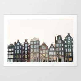 Amsterdam canal houses Dutch architecture on film - Holland Art Print