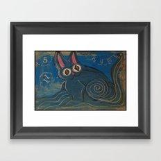 Wave Kitty Framed Art Print