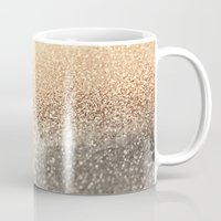 purple Mugs featuring  GOLD by Monika Strigel
