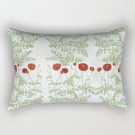 A reminder of past poppies Rectangular Pillow