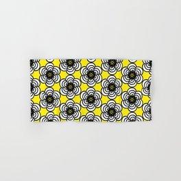 Yellow and Black Flowers Hand & Bath Towel