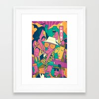 fear and loathing Framed Art Prints featuring Fear and Loathing by Ale Giorgini