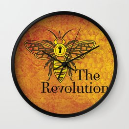 Bee the Revolution Wall Clock