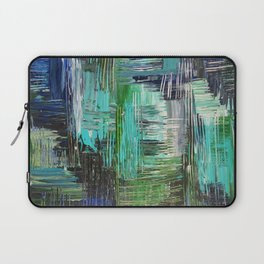 AQUATIC COMMOTION in Color - Textural Ocean Beach Nautical Abstract Acrylic Painting Wow Winter Xmas Laptop Sleeve