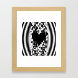Heart optical illusion #society6 #decor #buyart #artprint Framed Art Print