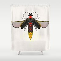 firefly Shower Curtains featuring Firefly by Conrad
